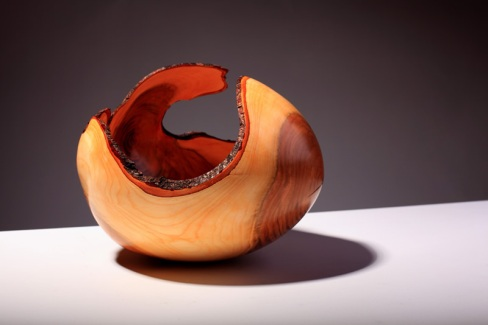 Angus Clyne Wet Turned Cherry bowl 26cm x 26cm