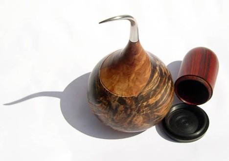 Simon Hope Onion form with pewter stem and cocobola hidden box