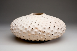 Eleanor Lakelin Hollow Form, Time & Texture, Carved & Pierced Sycamore, 30 cm x 30 cm x 12 cm, 2013, Photograph by Jeremy Johns