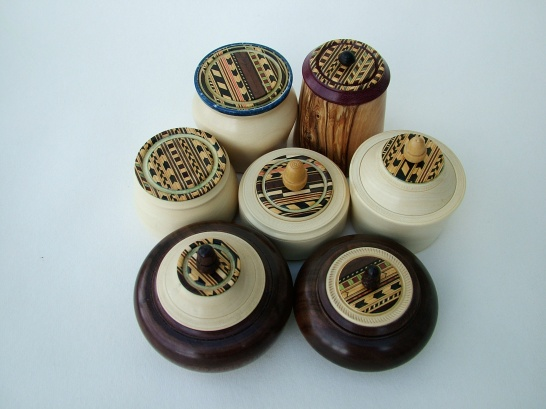 Stuart King-Inlaid lidded boxes