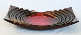 Rosemary Wright (c) Ribbed platter, scorched and stained sycamore 20in x 12in web